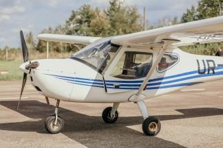 Учебный полет на самолете K-10 Swift