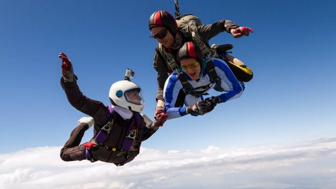Прыжок с парашютом, Тандем, 4200м