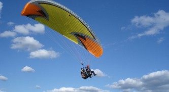 Полет на параплане в Карпатах