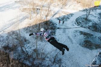Прыжки с Кайдакского моста в Днепре